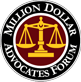 Family Law Burlington, Million Dollar Advocates Image - Law Offices of Daniel K. Newman